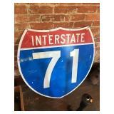 Aluminum Interstate 71 Sign 36x36