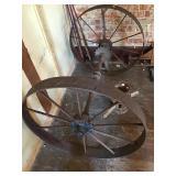 Steel Wheels And Axles 30in Dia. 43in Wide, Hub