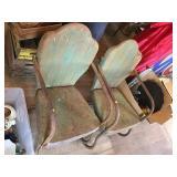 2- Vintage Metal Lawn Chairs