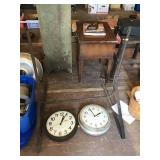 Sign Frame 32in Wide, Two Clocks West Clox And