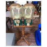 Ssf Candy Dispenser Machines On Wood Pedestal