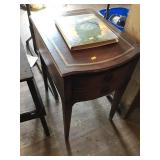 End Table Leather Top, Scratches 17x27x22 & Tapes