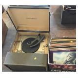 Columbia 623 Record Player, Record Assortment -