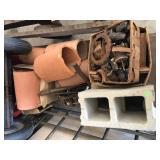 Cinder Blocks, Clay Tiles, Ceramic Insulators And