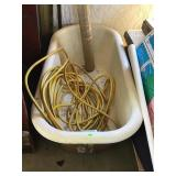 Cast Iron Claw Foot Tub And Contents