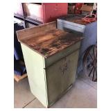 """Steel Cabinet With Wood Top 24"""" X 20""""x 36"""""""