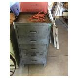 """5 Drawer Metal Cabinet With Outlets 21"""" X 21"""" X"""
