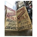 Plastic Sign Inserts With Damage 36x71