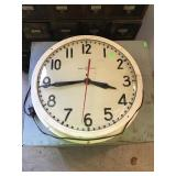 General Electric Clock With Glass Face