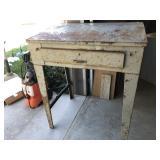 Factory Metal Desk 37x27x41 1/2