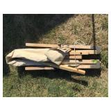 Wood Frame Canvas Cot