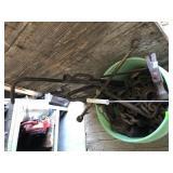 Log Chain, Hammer, Tire Iron And Assortment