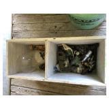Wood Box, Plumbing Fixtures, Vintage Items