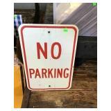 "12"" X 18"" No Parking Sign"