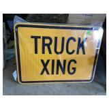 "Truck Xing Sign 24"" X 18"""
