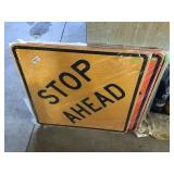 """Stop Ahead Sign 30"""" X 30"""""""