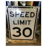 """Speed Limit 30 Sign 18"""" X 24"""""""