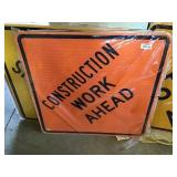 "Construction Work Ahead Sign 30"" X 30"""