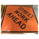 "Street Work Ahead Sign 30"" X 30"""