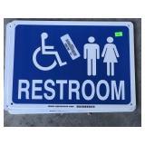 Metal Restroom Signs