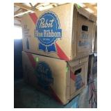 Pabst Blue Ribbon Beer Boxes