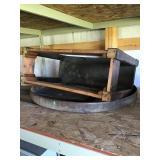Work Bench Base And Wagon Wheel Steel Band