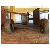 Cast Iron Wheels And Axle