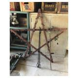 Tongs, Check Wire Stake And Lighted Star