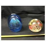 (2) Paperweights, Unmarked