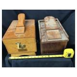 Two shoeshine kit, And supplies