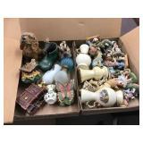 Figurines, small vases, mini oil lamp