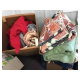 Bedding, Clothing, Two Boxes