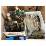 Cards, Coca-Cola bottles, glasses, liquor bottles