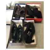 Four pairs of women