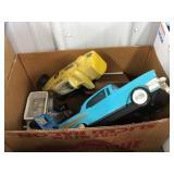 Racing car decanter, planter, Car video cassette
