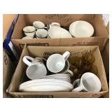 Set of Apple dishes, glasses, coffee mugs, Two
