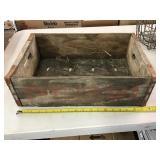 Wooden Pepsi crate 17 1/2 x 11 1/2 x 5 1/2