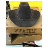 Dura felt cowboy hat with box