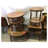 Coffee table 31 x 15, two tier round stand 22 x