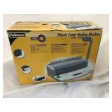 Fellows plastic comb binding machine PB55