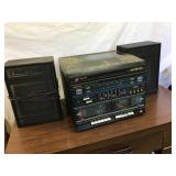 ALC Dual cassette AM/FM stereo and speakers
