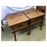 Two end tables 22 1/2 x 21 1/2 x 17 1/2