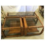 Coffee table 56 x 16 x 23 and two end tables 20 x