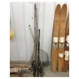 Fishing rods, reels, fishing net