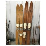 Two pairs of skis