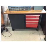 Craftsman workbench and toolbox , With casters,