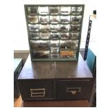 Orginizer and 2 Steelmaster Card cabinets