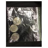 3 Ike 1971 D, 1972 D 1776-1967 Dollar