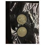 2 Peace Dollars 1922, 1925