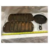 Two Corn Molds And Small Made In China Skillet 6